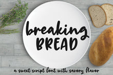 Load image into Gallery viewer, Breaking Bread: a chunky script font!