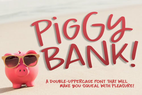 Piggy Bank: a charming handwriting font!