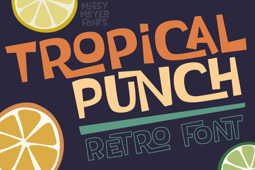 Tropical Punch: a fun retro vintage interlock font!