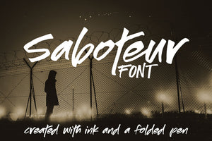 Saboteur: a moody and inky font!
