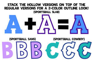 Sportsball: a fun sporty font with alternates!