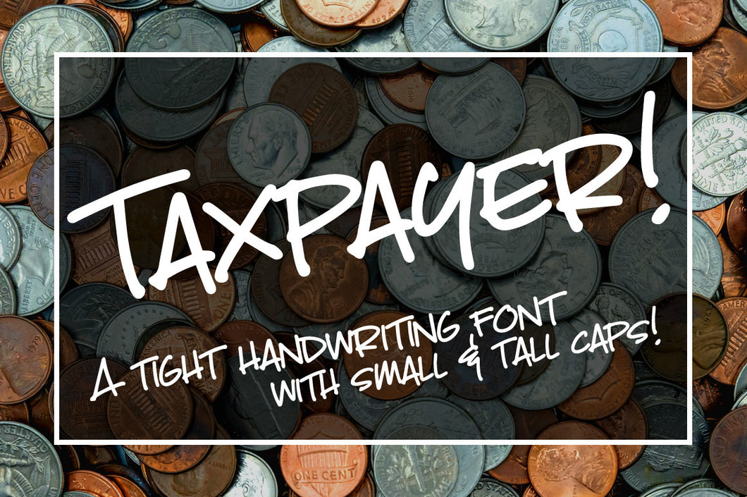 Taxpayer: my own handwriting in a font!