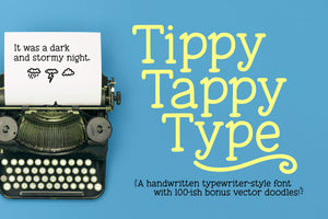 Tippy Tappy Type: a handmade typewriter font!