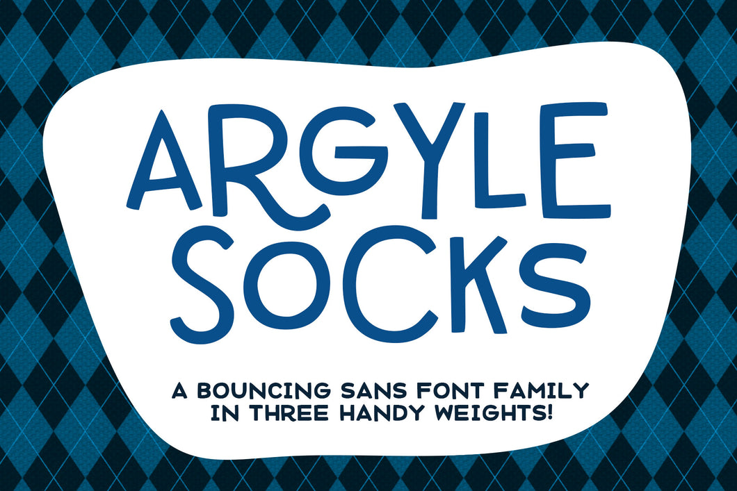 Argyle Socks: a fun font in 3 weights!