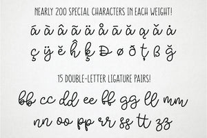 Bobbles: a script font in 3 weights!