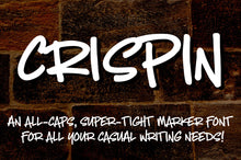 Load image into Gallery viewer, Crispin: a handwritten marker font!