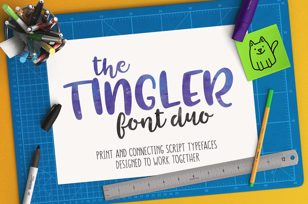 The Tingler: a font duo with stencil style!