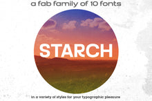 Load image into Gallery viewer, Starch: a modern 10-font family!