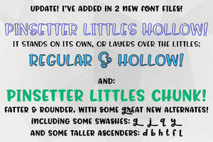 Pinsetter: a fun family of fonts!