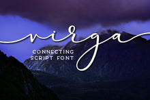 Load image into Gallery viewer, Virga: a sleek connecting script font!