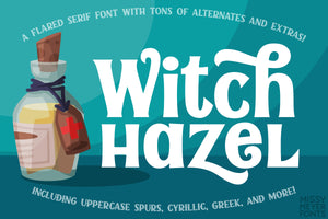 Witch Hazel: a chunky fun flared-serif font!