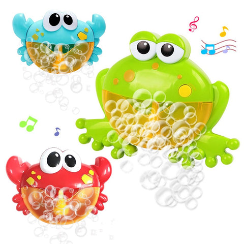 Image of Music Bath Bubble Maker Machine Crab Frog Automatic Toy for Baby Kids