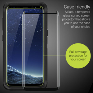 Case Friendly 3D Curved Tempered Glass Protector for Samsung Galaxy