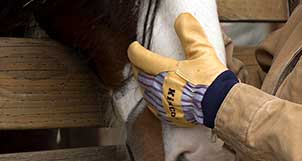 Pigskin Leather: Naturally tough, dries soft and flexible