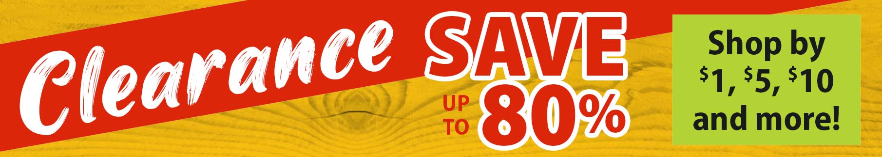 Clearance Save up to 80%