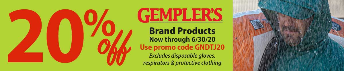 20% off Gempler's Brand Products
