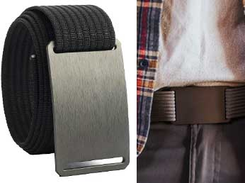 Only belt with no holes or flap