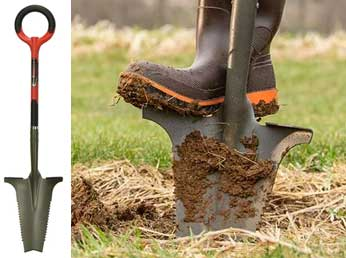 Dig & chop! Get rid of tough bushes