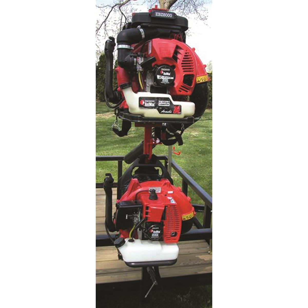 TrimmerTrap Double Backpack Blower Rack
