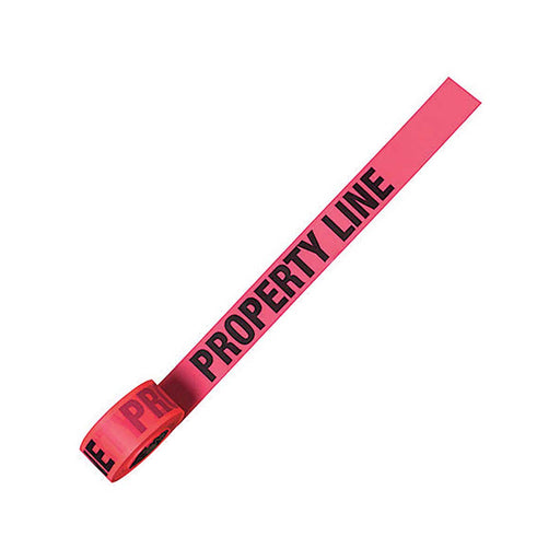 Property Line Fluorescent Pink Flagging