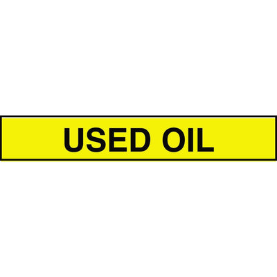"""Used Oil"" Adhesive Tank & Pipe Label"