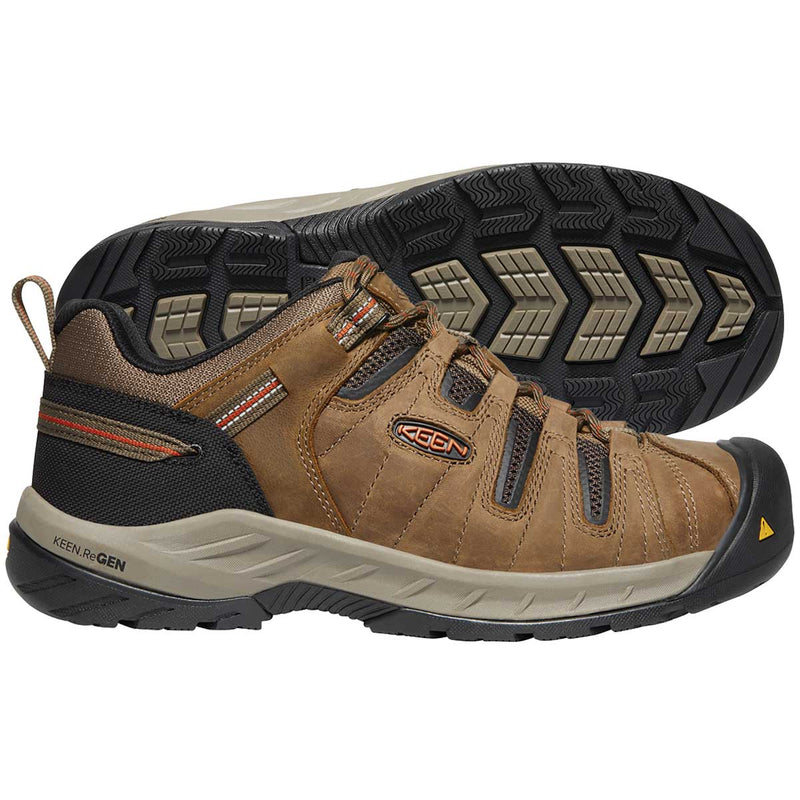 Keen Flint II Steel Toe Work Shoe, Shitake/Rust