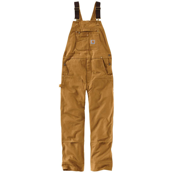 Carhartt Men's Duck Bib Overalls - Brown