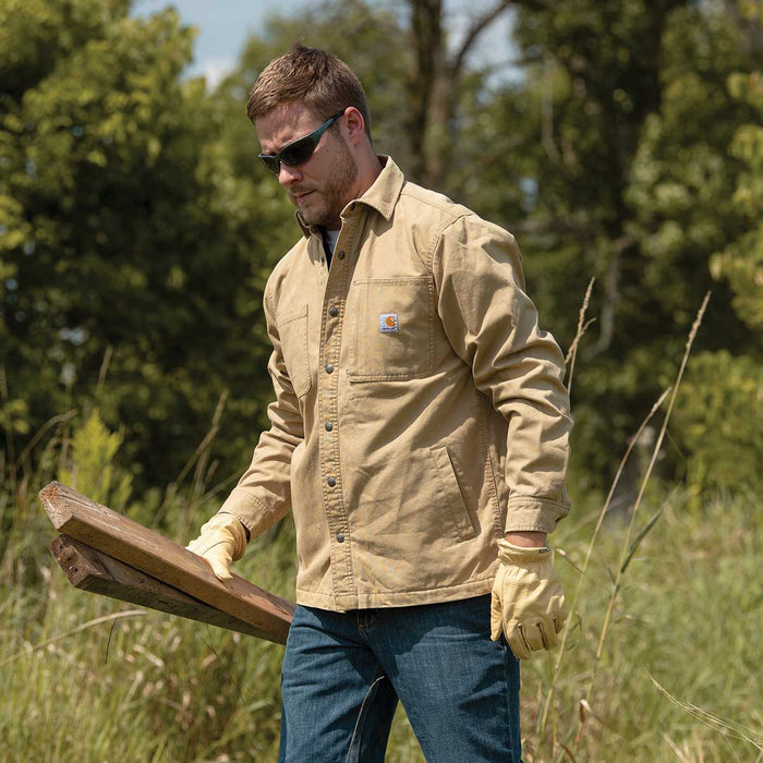 Carhartt Men's Rigby Rugged Flex® Canvas Shirt Jac