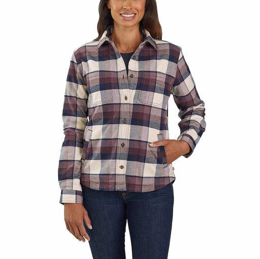 Carhartt Women's Rugged Flex® Hamilton Flannel Fleece Lined Shirt