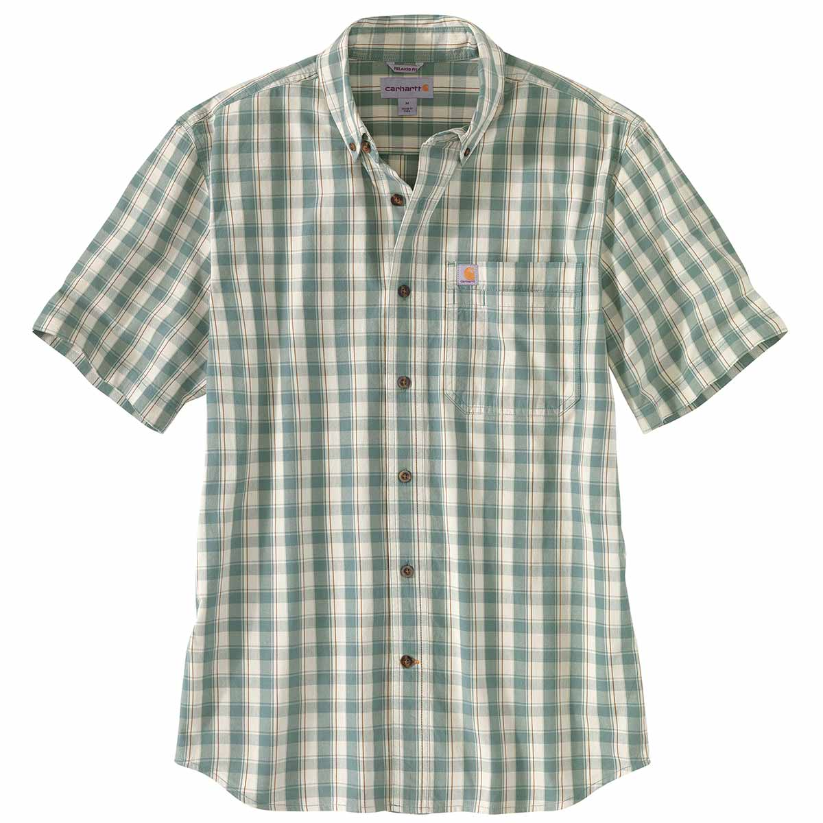 Carhartt Relaxed-Fit Button-Front Plaid Shirt