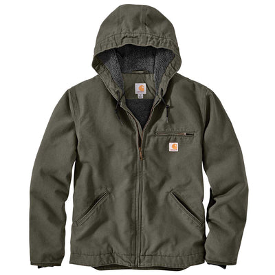 Carhartt 0J392-M Washed Duck Sherpa-Lined Jacket