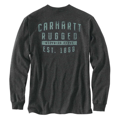 Carhartt TK433-M Original Fit Long-Sleeve Pocket Rugged Workwear Graphic T-Shirt