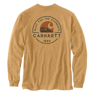 Carhartt Relaxed Fit Long-Sleeve Pocket Built for the Elements Graphic T-Shirt