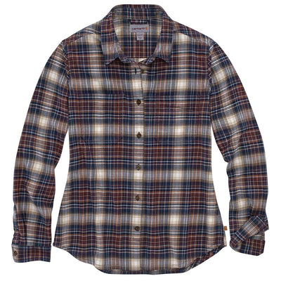 Carhartt Women's TW448-W Relaxed Fit Flannel Plaid Shirt
