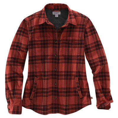 Carhartt Women's TW450-W Rugged Flex Flannel Fleece-Lined Plaid Shirt