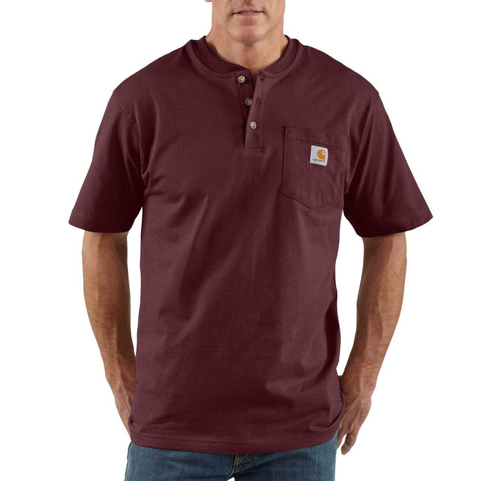 Carhartt K84 Short-Sleeve Henley Shirt with Pocket