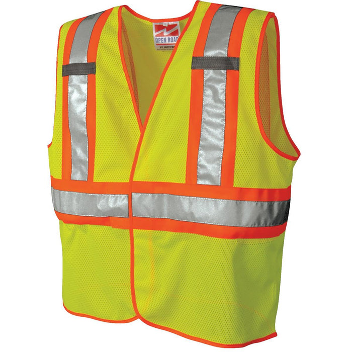 Safety Vest Traffic Fluorescent Hi-vis Pvc Tape/ Mesh Vest Security & Protection
