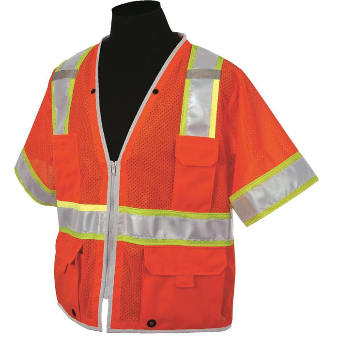 ML Kishigo Brilliant Series ANSI Class 3 Hi-Vis Safety Vest