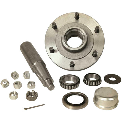 6-Hole Straight Spindle Stub Axle Assembly