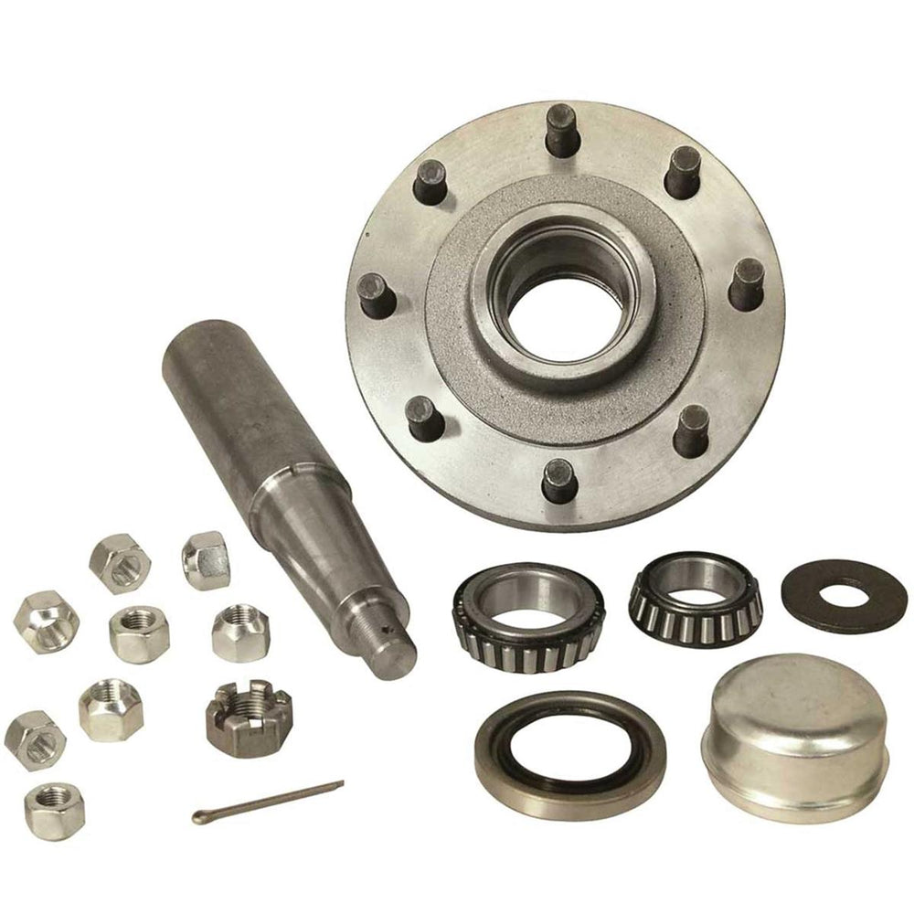 8-Hole Straight Spindle Stub Axle Assembly