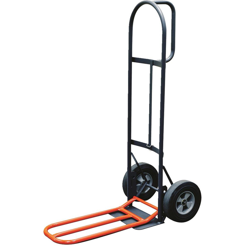 "Milwaukee Hand Truck with 10"" Solid Rubber Wheels And Noseplate Extension"