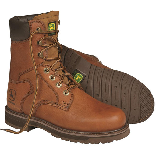 "John Deere Steel Toe 8"" Classic Design Work Boots"