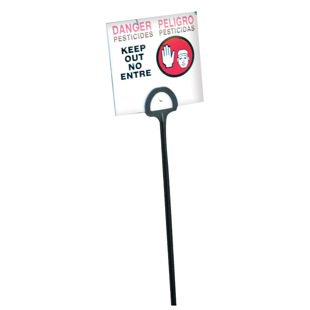 "5""x 5"" WPS Pesticide Warning Sign with 16""L Stake"
