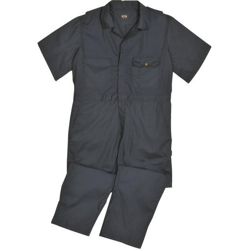 Short-Sleeved Unlined Poplin Coveralls