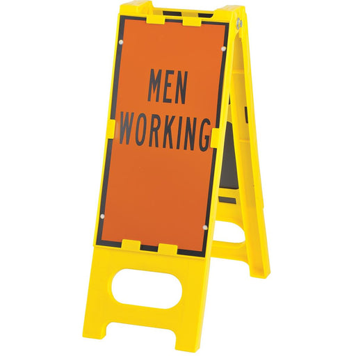 """Men Working"" Folding Barricade Sign"