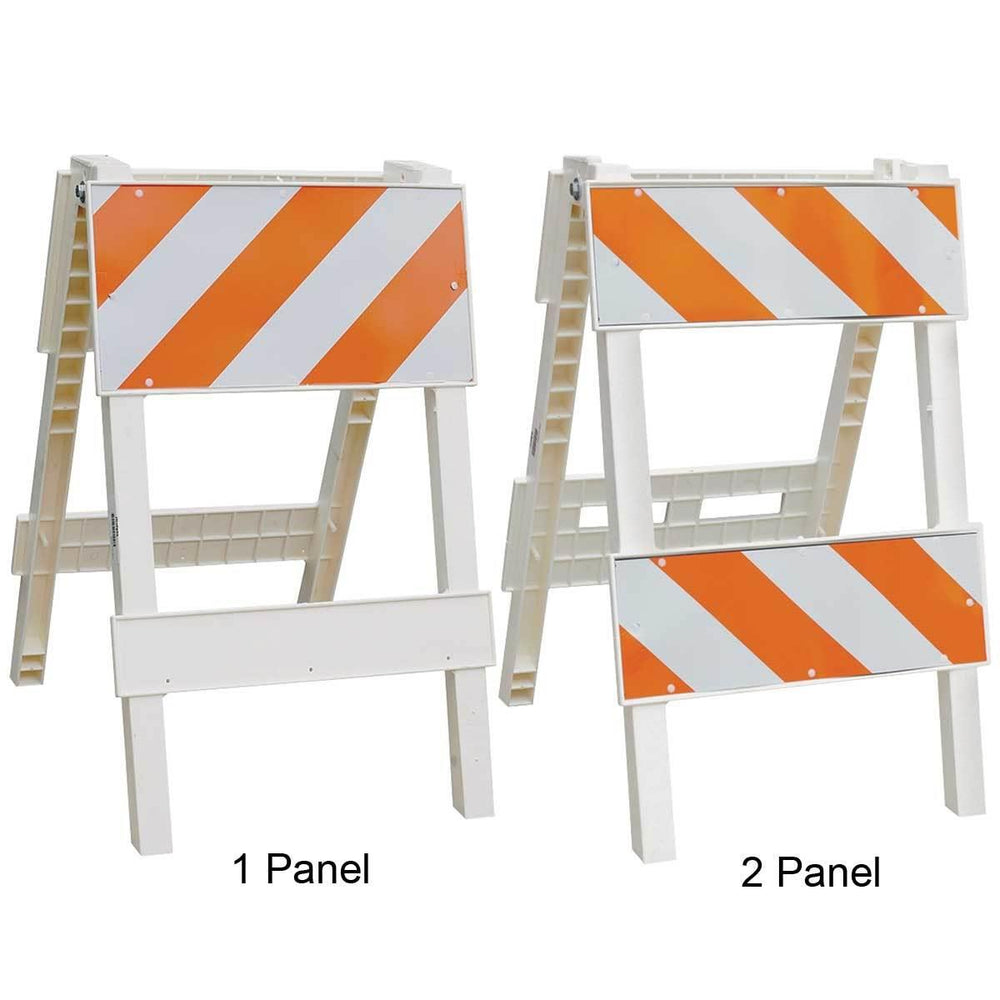 1 or 2 Panel Plastic Barricade