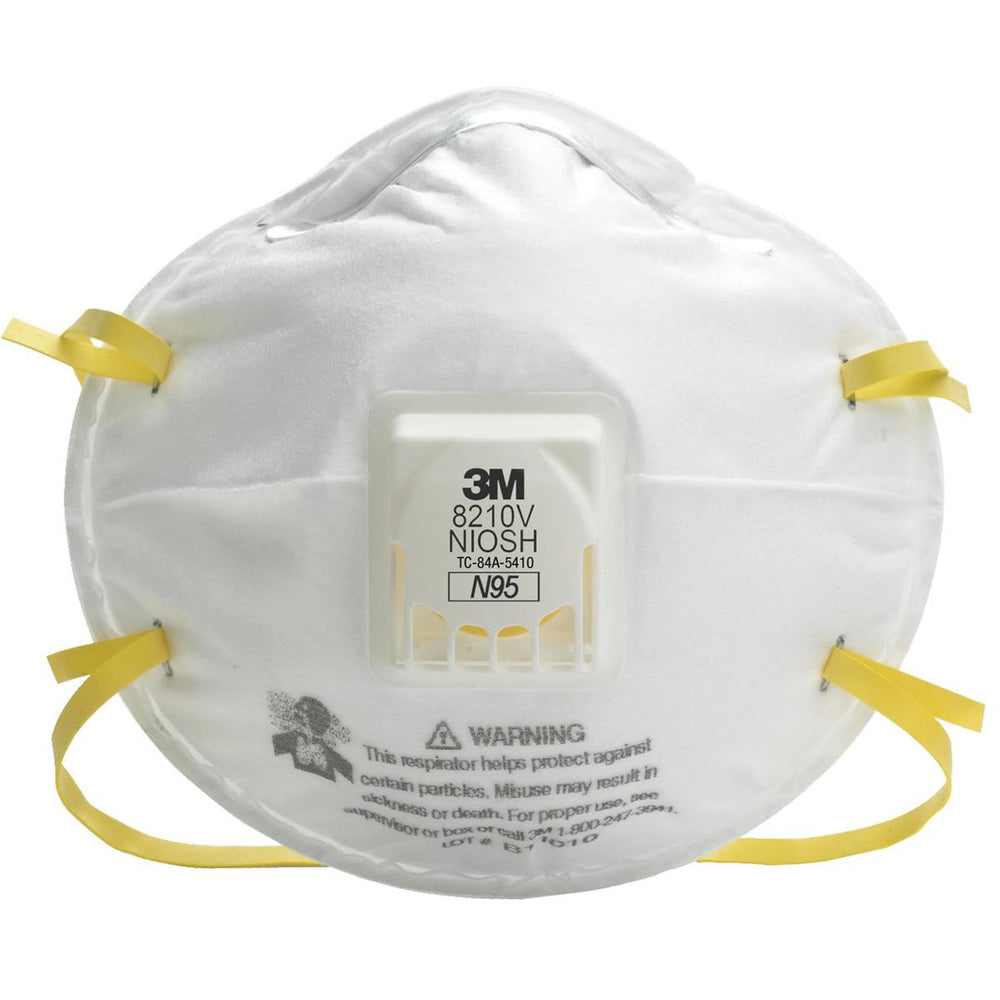 N95 Exhale With Respirator 8210v Valve