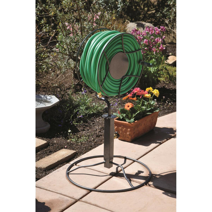 Free-standing Swivel Hose Reel with Patio Base