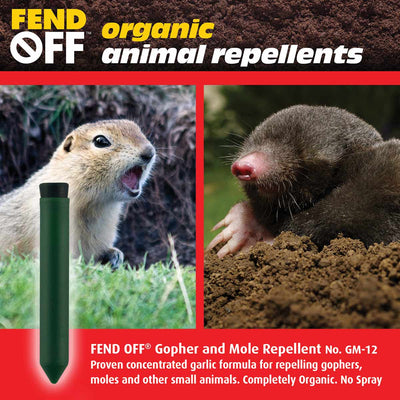 Mole and Gopher Garlic Repellents