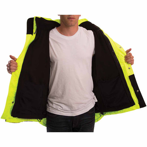 Tingley Class 3 Rain Jacket with Fleece Liner